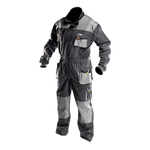 NEO TOOLS Arbeitsoverall | Größe L | Grau | Arbeitsjacke | Latzhose | Arbeitskleidung | EN ISO 13688:2013