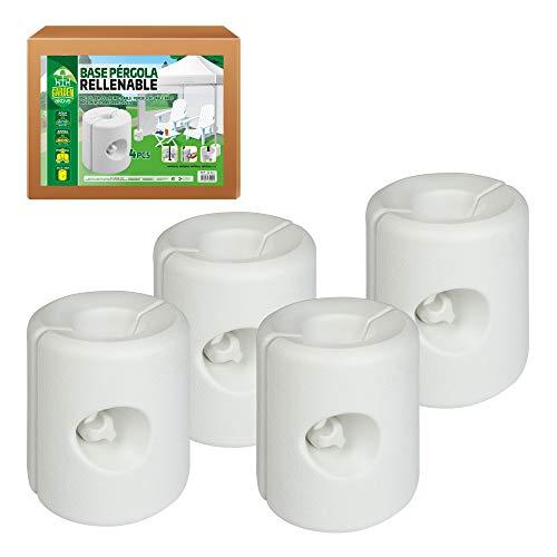 Aktive 62201 - Pack 4 soportes blancos para carpas 25 x 25 x 25 cm Garden