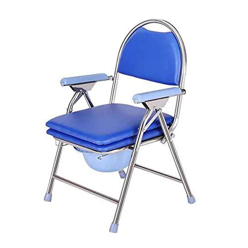 LHZHG Silla de WC, Asiento de Inodoro portátil Plegable para Inodoro portátil, Ancianos, Asequipajes para el Inodoro, Baño, para Personas Mayores, Discapacitados con Brazos Acolchados/Respaldo