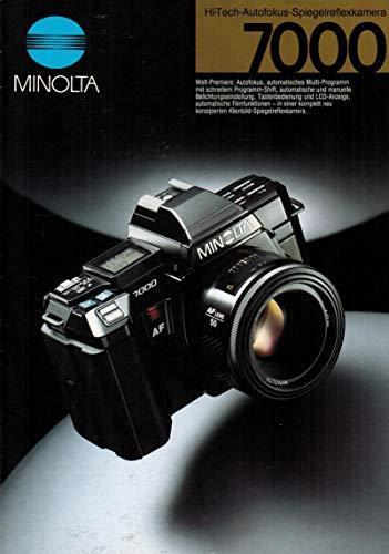 Minolta 7000 Hi-Tech-Autofokus Spiegelreflexkamera (Prospekt).