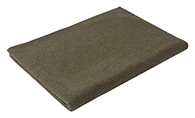 "Olive Drab Warm Winter Blanket, 62"" x 80"" (70% Virgin Wool)"