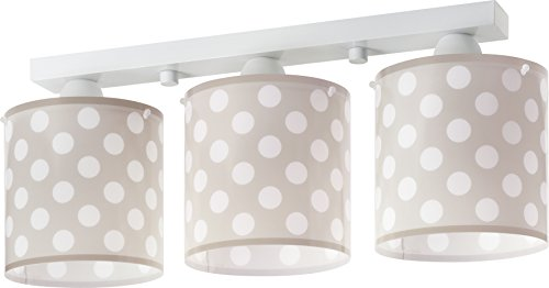 Dalber 3 Light Plafondlamp Bruin Stippen, Wit