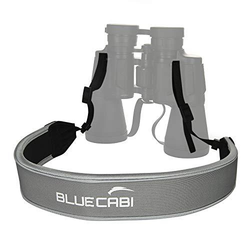 BlueCabi Neoprene Neck Strap for Cameras and Binoculars - Wide Comfortable Unisex Adjustable Anti-Slip Neck/Shoulder Belt Strap - Perfect for Binoculars, Rangefinders and DSLR Cameras - Grey