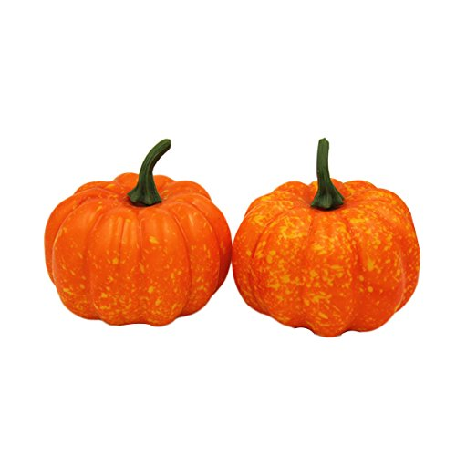 OUNONA lebensecht 2?5.6?cm K¨¹nstliche Mini-K¨¹rbis DIY Crafts Halloween House Deko Party Dekoration Fake Fruit K¨¹rbisse Kranz (5.6?x 6.5?cm)