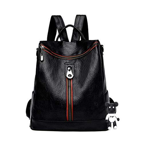 BUKESIYI Women's Backpack Handbags Rucksack Shoulder Bags PU Leather Mini Kawaii Anti-theft CCUK78238 Black