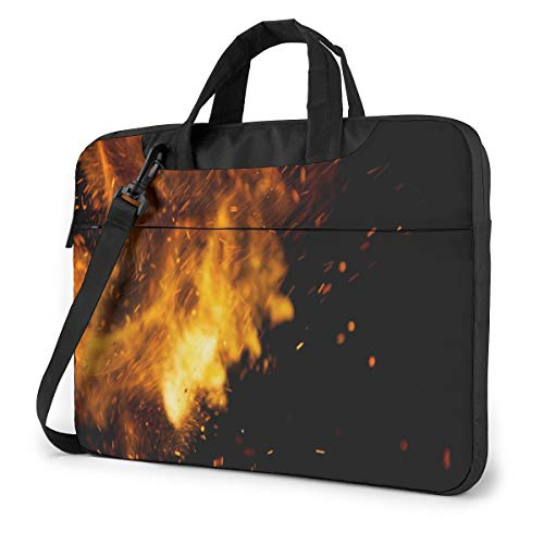 Laptop Carrying Case Dancing Flame 13in Laptop Case Sleeve Shoulder Bag Messenger Briefcase Computer Bags W/Strap Handle