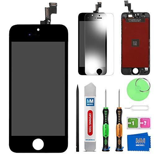 MMOBIEL LCD Display Touchscreen Digitizer Ersatz kompatibel mit iPhone 5S (Schwarz) Reparatur Set mit Anleitung