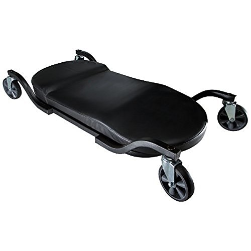 Traxion 1-100 ProGear Wide Body Low Profile Automotive Creeper W/All-Terrain 5' Casters