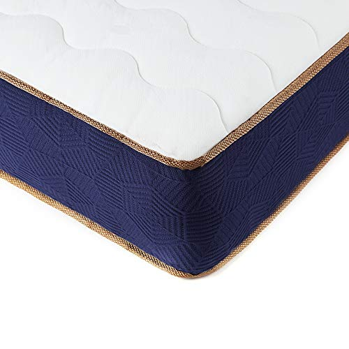 BedStory Memory Foam Pocket Sprung Mattress, 9 Inch Height 3ft Spring Single Mattress with 3D Breathable Knitting Fabric Medium Firm Pressure Relief Bed Mattress Fire Resistant (Single, 90x190x23cm)