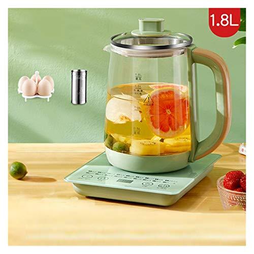 Zxebhsm Teekessel Multifunktions-Wasserkocher 1.8L Miniglas Gesundheit Topf Eintopf Porridge Slow Cooker Heizung Warmwasser Heizung Isolierung Kessel (Color : Green Filter)