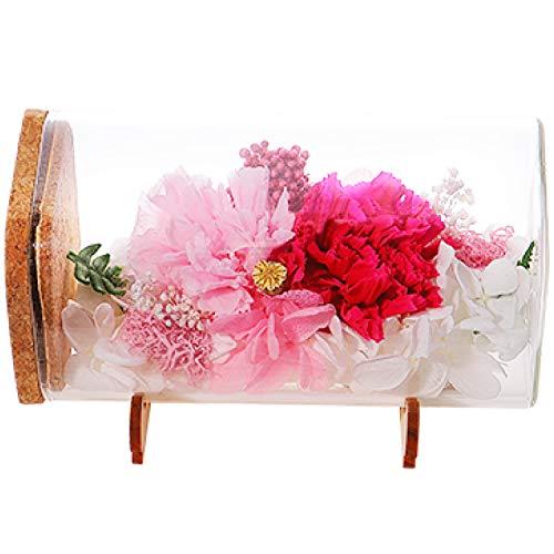 ティートサイト プリザーブドフラワー フラワーボトル ギフト ボックス入り ソレイユ (母の日限定 カーネーション ピンク)
