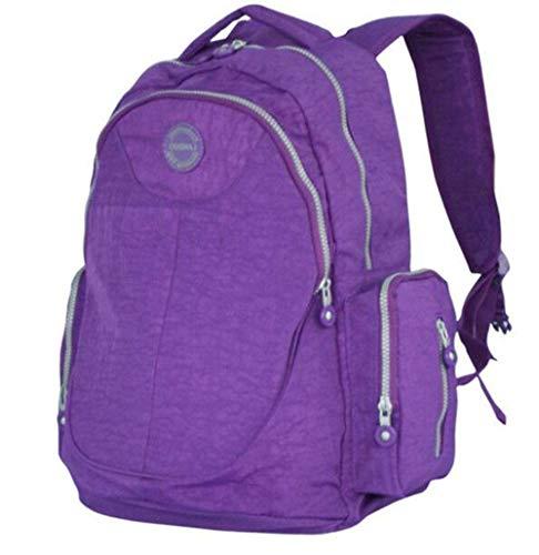 Etyybb Mochila para pañales Bolsa multifuncional de viaje para bebés Bolsa para pañales Mochila de maternidad de gran capacidad, impermeable y con estilo-purple_L