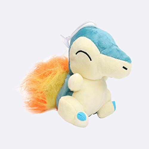 Stuffed.Animals Mimikyu Raichu Lapras Mew Dragonite Charmander Ditto Oddish Togepi Jigglypuff Mudkip Sylveon Snorlax Stuffed Dolls Plush Toys-Cyndaquil 15cm