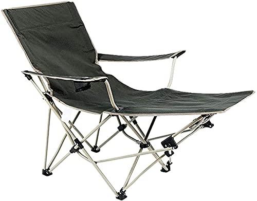 Accesorios para sala de estar Silla de camping portátil Plegable para actividades al aire libre Sillón reclinable Silla de playa portátil Silla de pesca ligera Capacidad de carga de hasta 150 kg para