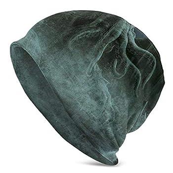 Unisex Beanie Caps Cthulhu Monster Fantasy Art Slouchy Winter Summer Knit Skull Hat Ski Hat Snapback for Women Men Black