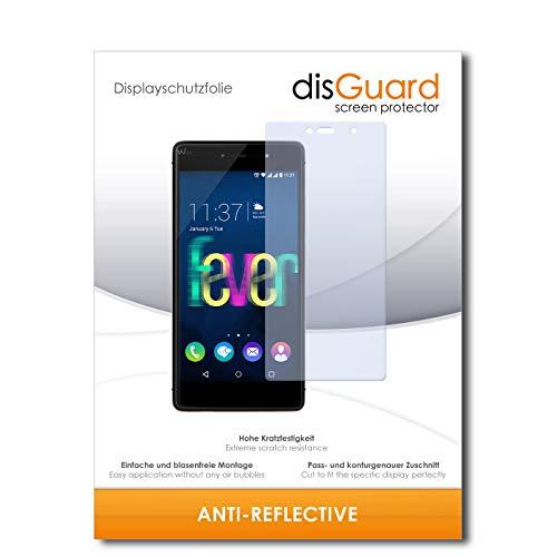 disGuard Bildschirmschutzfolie für Wiko Fever 4G [2 Stück] Anti-Reflex, MATT, Entspiegelnd, Extrem Kratzfest, Anti-Fingerabdruck - Bildschirmschutz, Schutzfolie, Panzerfolie