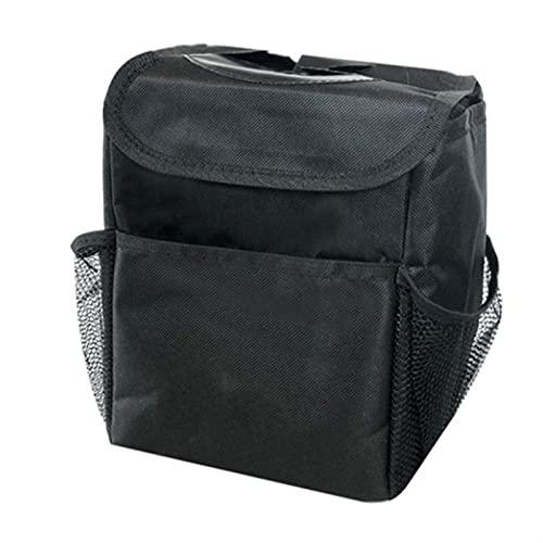 Coche Portátil Dustbin Bolsa De Basura Asiento Trasero Atrás Almacenamiento Barco De Basura Caja De Caja (Color Name : Black)