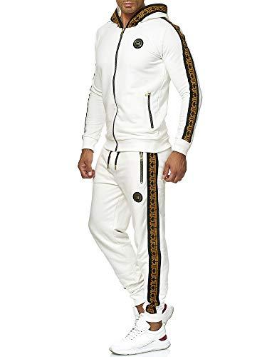Red Bridge Herren Jogginganzug Sweat Suit Set Jacke Hose R-Logo Premium M2157-M4237 Ecru L