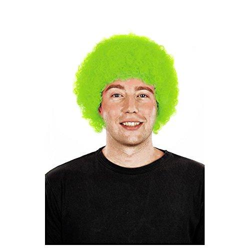 La Rigolade Perruque Pop Verte Fluo - Accessoire de déguisement - Cosplay pour Carnaval - Thême(s) : Disco / Fluo / Cirque