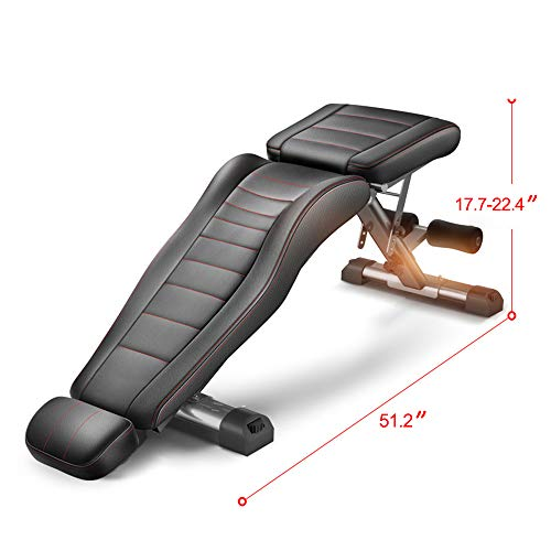 Adjustable Weight Bench Full Body Workout Foldable Incline Decline Exercise Workout Bench for Home Gym