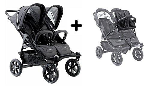 2016Valco Tri Mode Duo X double Poussette–Nuit avec Valco Baby Tri Mode Duo X Joey pour enfant pour enfant Assise par Valco Baby
