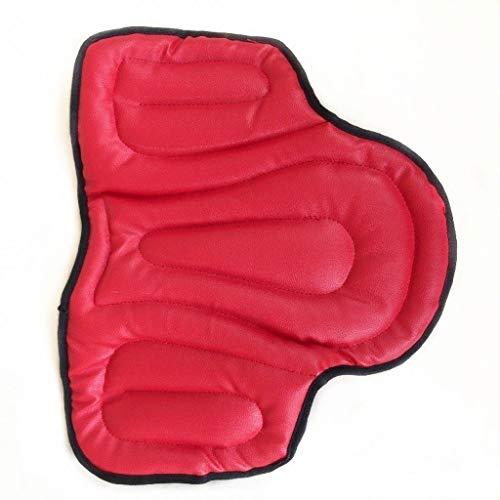 Paardrijden Zadeldek Soft Equestrian Seat Pad Paard, Ruiter Comprehensive PU Zadeldek Western Zadels Pads Pijnloos (Color : Red)