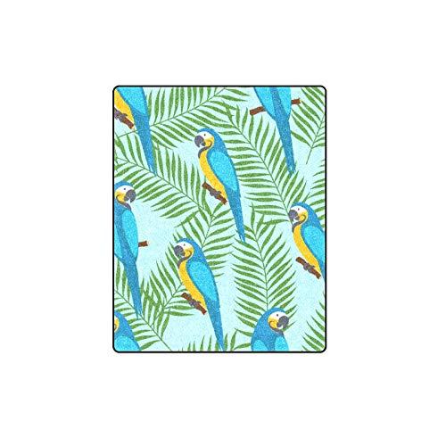 Rtosd Papagei Bunte Flügel Fether Mode Benutzerdefinierte Winter Leicht Komfortable Pelz Fuzzy Super Soft Fleece Couch Sofa Und Bett Decke Für Baby Frauen Größe 40x50 Zoll