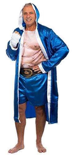 Brandsseller Herren Kostüm Boxer Karneval Party Junggesellenabschied One Size/Einheitsgröße Blau