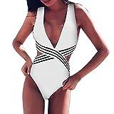 SoonerQuicker Mujer Traje de Baño Tankinis Ropa de baño Falda Push Up Bikini Conjunto de Malla Playa Ropa de Baño de Cintura Alta Camuflaje Bañador Mujeres Natación Ropa De Baño Tankini Negro S