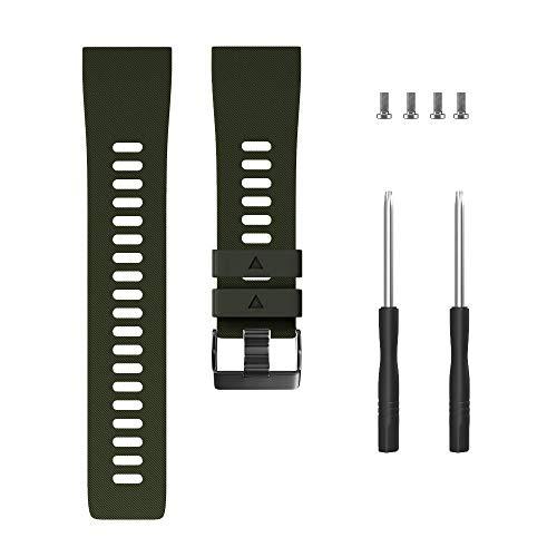 WANGLAI Silikonarmband für Garmin Forerunner 35, 10 Farben Armband 26mm 22mm 20mm