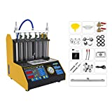 AUTOOL Ultrasonic Wave Fuel Injector Cleaner and Tester Automotive Fuel Injection Systems Cleaning Tools for All Petrol 6 Cylinder Vehicles Motorcycle
