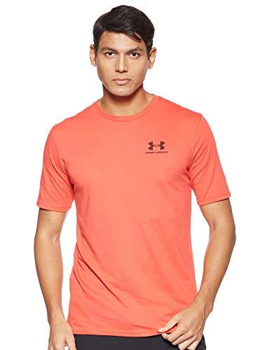 Under Armour Herren Sportstyle Logo Tank sportliches Muskelshirt aus superweichem Stoff, ärmelloses Sportshirt mit loser Passform, Rot (Martian Red/Martian Red (646)), S