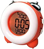 PKLFQQA Reloj Despertador Dual-Set con Pilas, Hermoso, puntual, Lindo, Hermoso y Popular, Adecuado para Personas con sueño, fácil de Leer, sin Reloj, mu