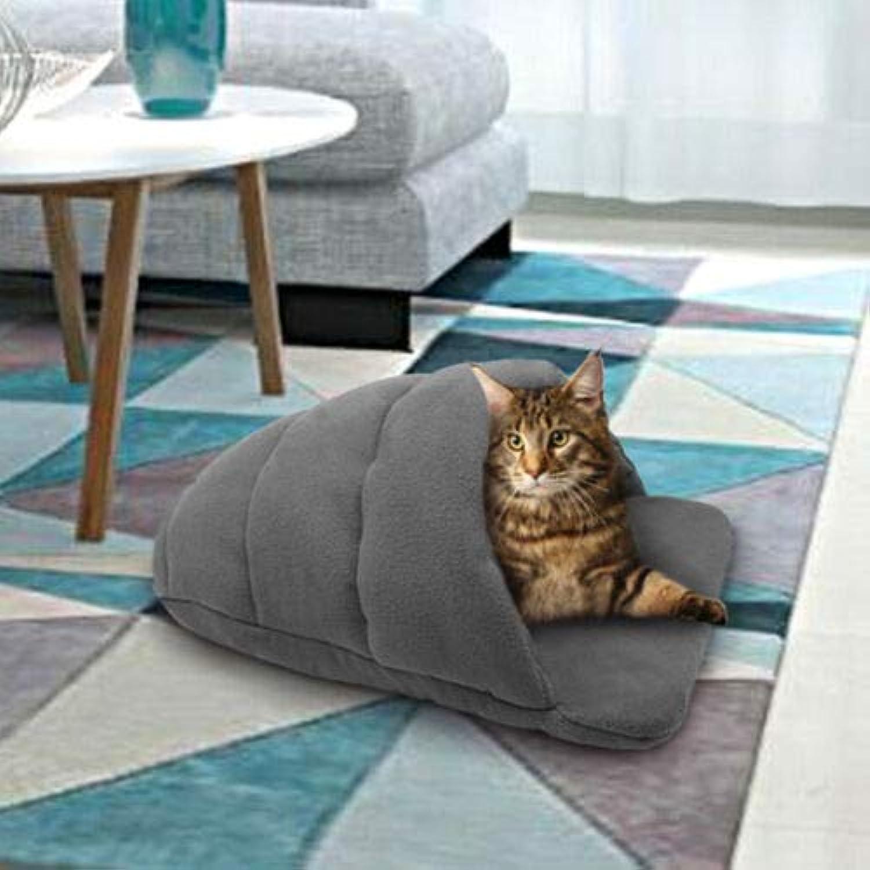 FidgetGear Self Heating Cat Igloo Bed Pet Tunnel House Room Cagve