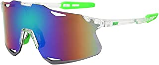 QWKLNRA - Gafas De Sol para Hombre Lente Azul Marco Blanco Y Verde Polarised Sports Sunglasses Oversized Women Vintage Gafas De Sol Deportivas para Hombre Gafas De Sol para Hombre Deportes Conducción