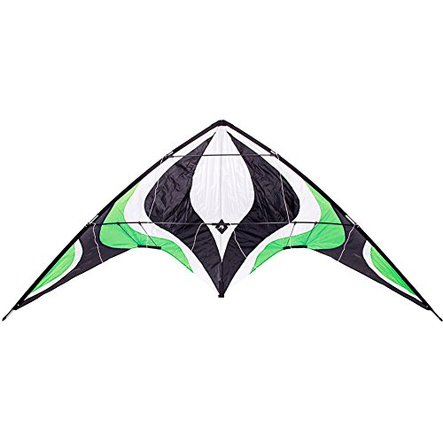 Babyeden 84 Green Sport Stunt Kite Dual-Line X-LARGE 7 FT WING SPAN Prism Delta Outdoor Flying by Babyeden