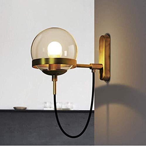 Meixian Wandlamp voor buiten, balkon, gang, trap, spiegel, retro spots, glas, maat ?e: 27 x 15 x 14 cm. Eenvoudig retro.