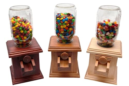 Hand-made Wooden Candy Dispenser - M&M Peanut Skittles Snack - Wood Candy Dispenser - DavesWoodDesigns