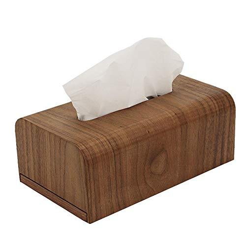 Yjdr Walnussholz Großer Deluxe Seidenpapier-Kasten-Abdeckung, Holz Tissue Box, Massivholz-Tray, Haus Wohnzimmer, Einfaches Büro, Couchtisch, Schlafzimmer, Massivholz-Aufbewahrungsbehälter, Walnuss Tis