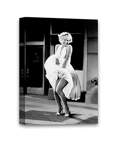 Funny Ugly Christmas Sweater Subway Dress Marilyn Monroe The 7 Year Itch Framed Art Canvas Hollywood Movie Scene Monroe…