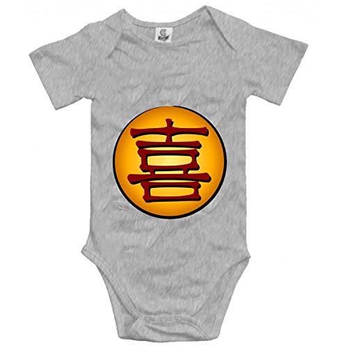 Lplpol Mono de algodón con símbolo de la felicidad para bebés unisex, GK381, multicolor, 12 meses