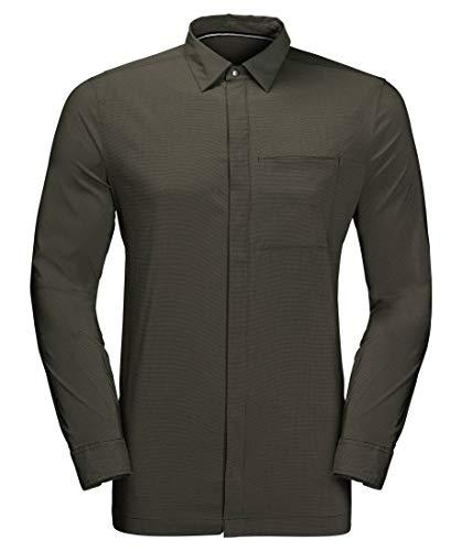 Jack Wolfskin Jwp Longsleeve Shirt Homme Green Pine FR: 2XL (Taille Fabricant: XXL)