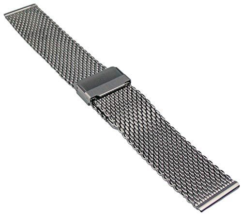 Milanaise Edelstahl Uhrenarmband Metallband 18-24mm Mesh Armband Uhr Band 20mm Silber