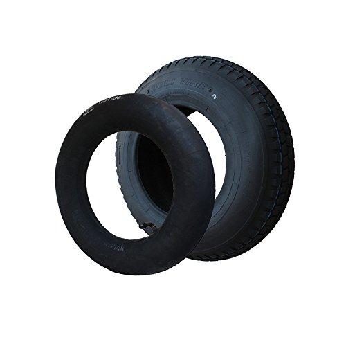 SET Reifen+Schlauch WV 400x100 4.80/4.00-8 Stollen Profil PR4-Lagen Tragfähigkeit 305 kg