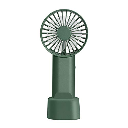 MOVKZACV Ventilador de mano portátil,Diseño de mosquetón,Mini ventilador de mano con batería recargable USB,Ventilador de mesa personal de 3 velocidades con base