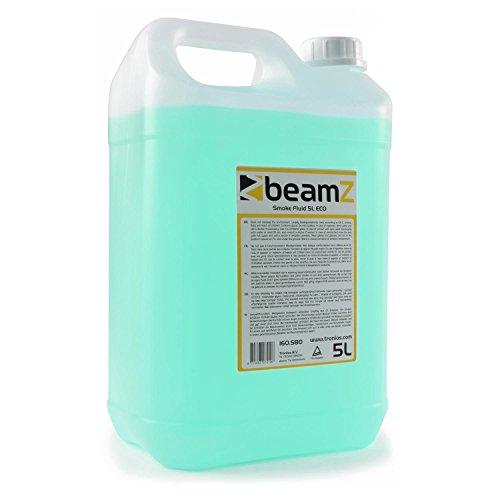 beamZ Nebelfluid - Nebelflüssigkeit, 5 Liter, CO2-Effekt, für mitteldichten Nebel, schnelle Dispersion, Geruchsneutral, umweltfreundlich, geeignet für alle beamZ Nebelmaschinen, grün