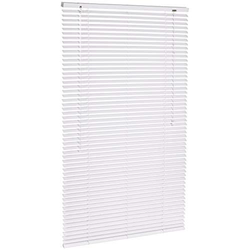 Amazon Basics - Persiana veneciana de aluminio, 80 x 130 cm, Blanco