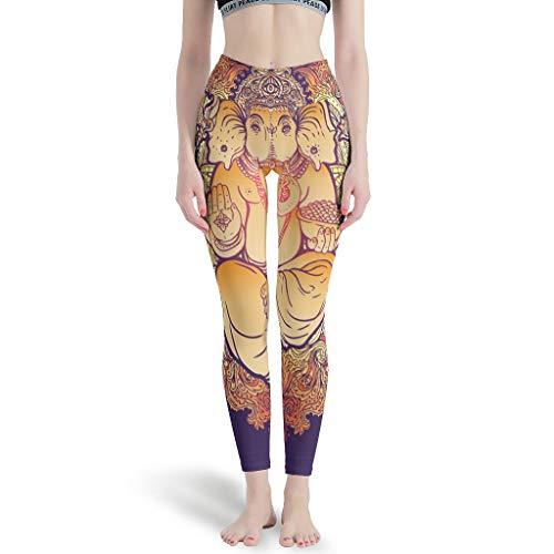 Lind88 - Vrouwen Zachte Enkel Broek, Populaire Leggings Yoga Olifant Patronen Print Zomer Capri Panty Leggings voor Vrouwen Sport Gym Capri