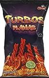 Frito Lay, Sabritas, Turbos Corn Snacks, Flamas, 9.25oz Bag (Pack of 4)