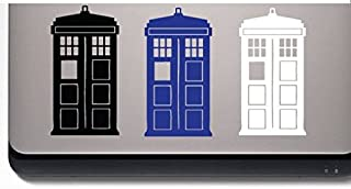 Doctor Who Laptop 3 Tardis (3 Pcs Included) Decal Sticker Car Home Laptop Dye-cut By Boston Deals USA